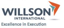 Willson International Logo + Tagline